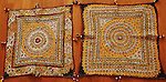 ANTIQUE MUSEUM QUALITY WALL PANELS OR CHAAKDAS (PAIR) FROM THE RABARI TRIBE, KUTCH, GUJARAT.