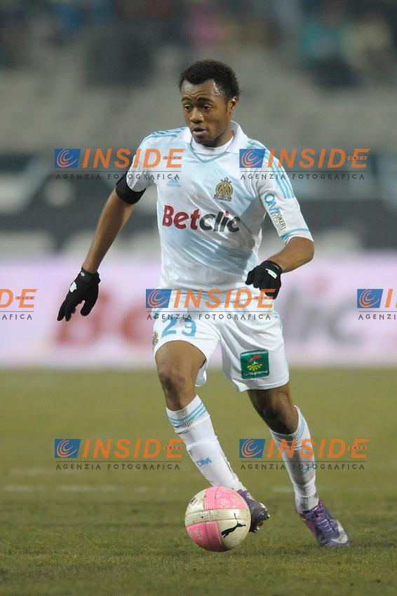 "Jordan Ayew (OM) .Marsiglia 19/2/2012 Stadio ""Velodrome"".Football Calcio Ligue 1.OM Vs Valenciennes 1-1.Foto Insidefoto / Franck Pennant/ Panoramic.ITALY ONLY"