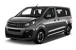 2020 Opel Zafira-Life Business-Innovation 5 Door Mini Van angular front stock photos of front three quarter view
