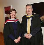 19/1/2015   (with compliments)  Attending the University of limerick conferrings on Monday afternoon was Mike Potter, Clancy Strand conferred with a MSc in Risk Management and Insurance and Course Director Dr Orla McCullagh, Dept of Accounting & Finance, KBS, UL.  Picture Liam Burke/Press 22