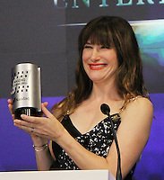NEW YORK, NY-July 28:  Kathryn Hahn, at STX Entertainment '& Bad Moms' cast  Ring The NASDAQ Closing Bell at Time Square New York. NY July 28, 2016. Credit:RW/MediaPunch