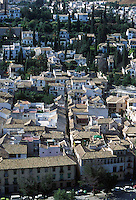GRANADA- ESPAÑA- 24-06-2005. Panorámica Granada, España. Panoramic Granada, Spain. (Photo: VizzorImage)...