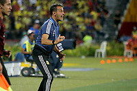 BUCARAMANGA - COLOMBIA, 06-02-2020: Fernando Batista técnico de Argentina durante partido entre Argentina U-23 y Colombia U-23 por el cuadrangular final como parte del torneo CONMEBOL Preolímpico Colombia 2020 jugado en el estadio Alfonso Lopez en Bucaramanga, Colombia. / Fernando Batista coach of Argentina during match against Colombia of for the final quadrangular as part of CONMEBOL Pre-Olympic Tournament Colombia 2020 played at Alfonso Lopez stadium in Bucaramanga, Colombia. Photo: VizzorImage / Jaime Moreno / Cont