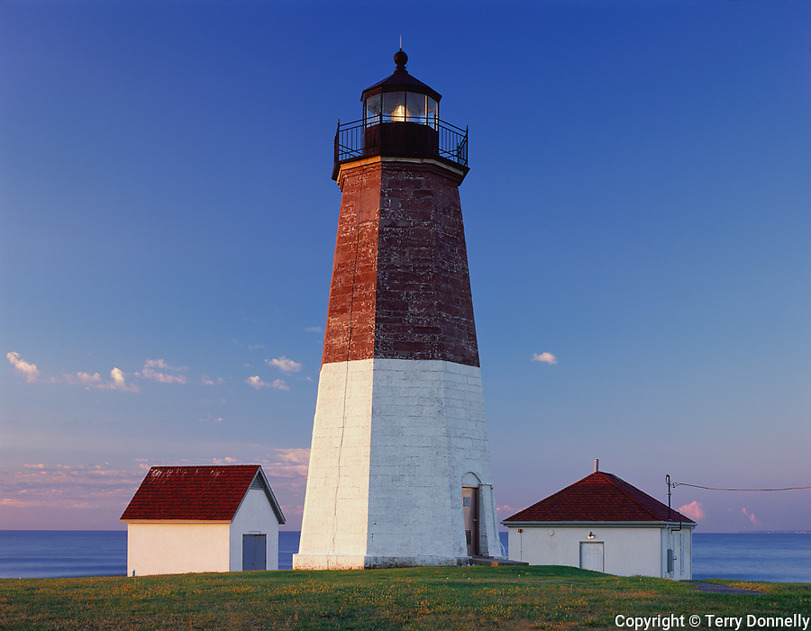 Rhode Island Sound, RI<br /> Point Judith Lighthouse (1857), Narraganset