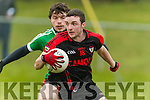 Alan O'Leary Kenmare in action against Eoghan Costello Adare at Mallow on Sunday