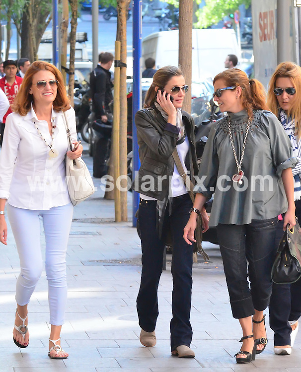 **EXCLUSIVE PICTURES FROM SOLARPIX.COM**                                             **WORLDWIDE SYNDICATION RIGHTS EXCEPT SPAIN - NO SYNDICATION IN SPAIN**                                                                                  Caption: Princess of Asturias Letizia Ortiz  went out in Madrid for lunch where she bumped into Jaime de Marichalar the former husband of the Infanta Elena, Duchess of Lugo, the eldest daughter of King Juan Carlos  .She left the restaurant looking embarrassed by the encounter.                                                                         This pic: Princess Letizia                                                                                  JOB REF:14068        DGM       DATE: 29.09.2011                                                           **MUST CREDIT SOLARPIX.COM OR DOUBLE FEE WILL BE CHARGED**                                                                      **MUST AGREE FEE BEFORE ONLINE USAGE**                               **CALL US ON: +34 952 811 768 or LOW RATE FROM UK 0844 617 7637**