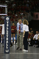 16 December 2006: Stanford Cardinal head coach John Dunning during Stanford's 30-27, 26-30, 28-30, 27-30 loss against the Nebraska Huskers in the 2006 NCAA Division I Women's Volleyball Final Four Championship match at the Qwest Center in Omaha, NE.