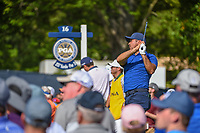 Jason Day (AUS) watches his tee shot on 16 during 1st round of the 100th PGA Championship at Bellerive Country Cllub, St. Louis, Missouri. 8/9/2018.<br /> Picture: Golffile | Ken Murray<br /> <br /> All photo usage must carry mandatory copyright credit (© Golffile | Ken Murray)