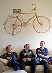 TUCSON, AZ - MARCH 4:  Members of the Champion System Stan's NoTubes Pro Cycling Team hang out at the team house on March 4, 2014 in Tucson, Arizona.  (Photo by Donald Miralle for Wall Street Journal)