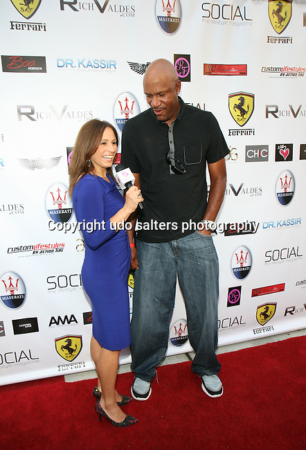 VIVE Katerin Interviews Former NBA Player Ron Harper at Metropolitan Bikini Fashion Weekend 2013 Held at BOA Sponsored by Social Magazine, Maserati and Ferrari, Hoboken NJ