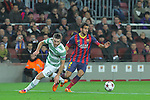 11.12.2013 Barcelona, Spain. UEFA Champions League, Group H Matchday 6. Picture show Martin Montoyo  in action during game between FC Barcelona Against Celtic at Camp Nou