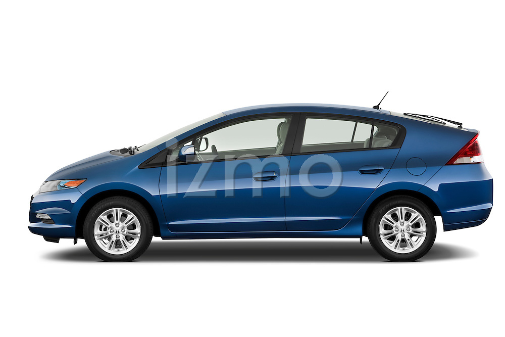 Driver side profile view of a 2010 Honda Insight EXL.