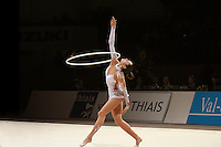 Anna Bessonova of Ukraine performs with hoop at 2007 Thiais Grand Prix near Paris, France on March 24, 2007. Anna won the seniors All-Around.