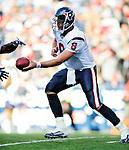 1 November 2009: Houston Texans' quarterback Matt Schaub in action against the Buffalo Bills at Ralph Wilson Stadium in Orchard Park, New York, United States of America. The Texans defeated the Bills 31-10. Mandatory Credit: Ed Wolfstein Photo