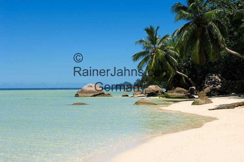 Seychelles, Island Mahe, Anse Boileau: beach at west coast<br />