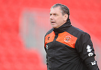 Blackpool Goalkeeper Coach Dave Timmins during the pre-match warm-up <br /> <br /> Photographer Kevin Barnes/CameraSport<br /> <br /> Emirates FA Cup First Round - Exeter City v Blackpool - Saturday 10th November 2018 - St James Park - Exeter<br />  <br /> World Copyright &copy; 2018 CameraSport. All rights reserved. 43 Linden Ave. Countesthorpe. Leicester. England. LE8 5PG - Tel: +44 (0) 116 277 4147 - admin@camerasport.com - www.camerasport.com