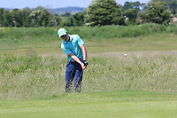 Joseph Byrne (Baltinglass) on the 1st during Round 2 of the East of Ireland Amateur Open Championship 2018 at Co. Louth Golf Club, Baltray, Co. Louth on Sunday 3rd June 2018.<br /> Picture:  Thos Caffrey / Golffile<br /> <br /> All photo usage must carry mandatory copyright credit (&copy; Golffile | Thos Caffrey)