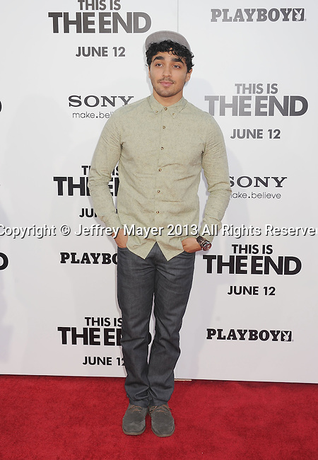 WESTWOOD, CA- JUNE 03: Actor E. J. Bonilla arrives at the 'This Is The End' - Los Angeles Premiere at Regency Village Theatre on June 3, 2013 in Westwood, California.