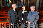 Bishop Ray Browne, Norma Foley and Fr Tadgh Fitzgerald launching the St John's Parish 150 year anniversary starting this year and its October 2019 to October 2020 in the church on Saturday night.