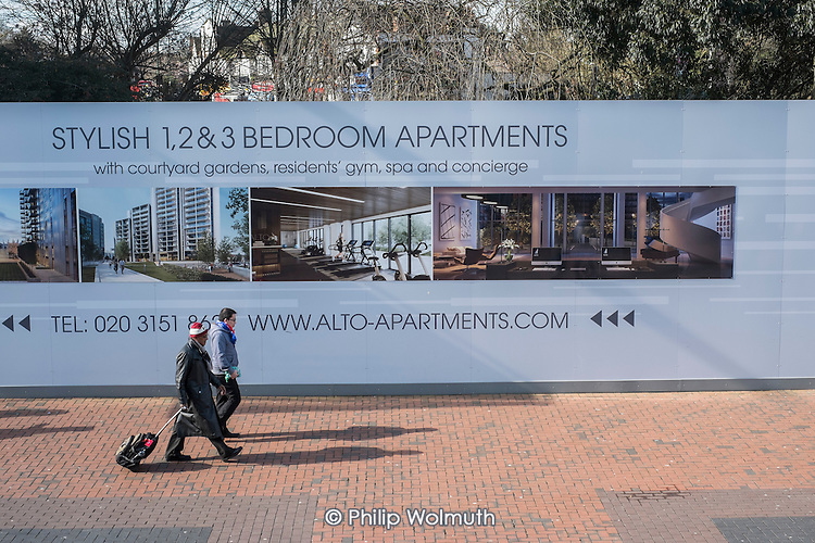 Ad for off-plan sales of Alto Apartments, Wembley, London