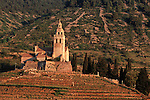 .Vis Island. Komiza harbour.Saint Nicolas monastery.Cruise in Croatia. Island of Dalmatia