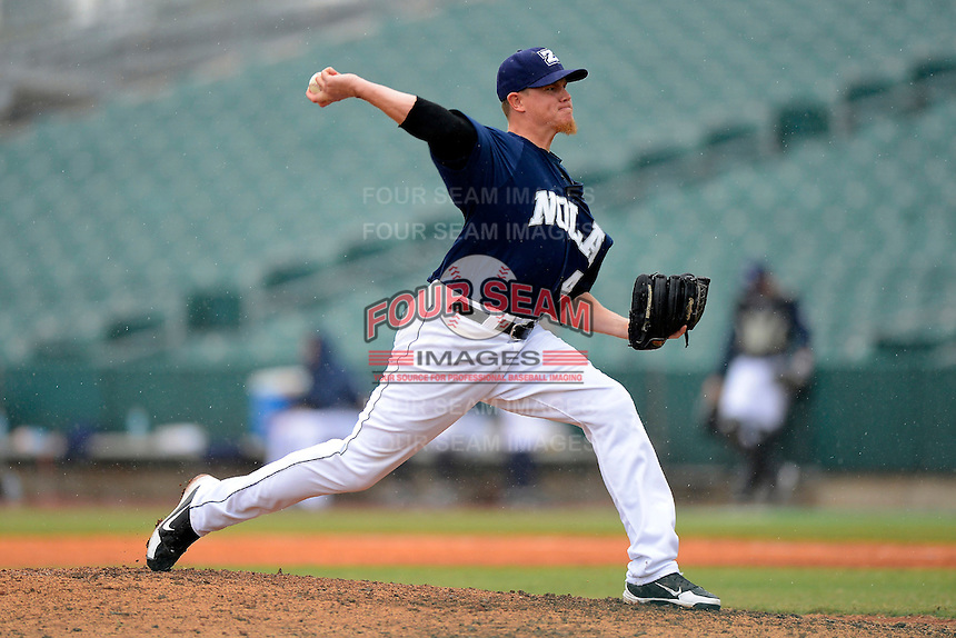 New Orleans Zephyrs pitcher Jordan Smith #41 during a game against the Round Rock Express on April 15, 2013 at Zephyr Field in New Orleans, Louisiana.  New Orleans defeated Round Rock 3-2.  (Mike Janes/Four Seam Images)