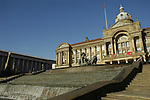 View of Council House building with River fountain and statue in the foreground Victoria Square Birmingham England