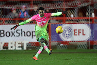 Goalkeeper Jamal Blackman of Wycombe Wanderers <br /> during the Sky Bet League 2 match between Accrington Stanley and Wycombe Wanderers at the wham stadium, Accrington, England on 28 February 2017. Photo by Tony  KIPAX.