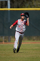 Indiana Hoosiers outfielder Chris Lowe (26) during practice before a game against the Illinois State Redbirds on March 4, 2016 at North Charlotte Regional Park in Port Charlotte, Florida.  Indiana defeated Illinois State 14-1.  (Mike Janes/Four Seam Images)