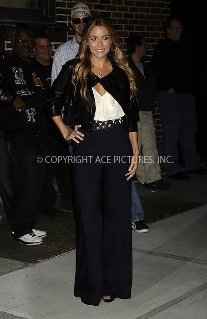 WWW.ACEPIXS.COM . . . . .  ....October 27 2008, New York City....Television personality Lauren Conrad made an appearance at the 'Late Show with David Letterman' at the Ed Sullivan Theater on October 27, 2008 in New York City. ....Please byline: AJ Sokalner - ACEPIXS.COM..... *** ***..Ace Pictures, Inc:  ..te: (646) 769 0430..e-mail: info@acepixs.com..web: http://www.acepixs.com