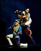 The Nutcracker - Scottish Ballet - at Glasgow's Theatre Royal - l to r - The Nutcracker Doll (Luke Ahmet) with Mouse King (Owen Thorne) with Marie (Sophie Martin) with the Nutcracker doll - The ballet opens this weekend in Glasgow before going on tour around the UK until February - picture by Donald MacLeod - 07.12.12 - 07702 319 738 - clanmacleod@btinternet.com - www.donald-macleod.com