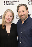 Tasha Lawrence and Jeremy Shamos attend the 'If I Forget' cast photocall at the Roundabout Rehearsal Studios on January 12, 2017 in New York City.