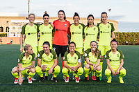 Boston, MA - Saturday April 29, 2017: Seattle Reign FC starting eleven during a regular season National Women's Soccer League (NWSL) match between the Boston Breakers and Seattle Reign FC at Jordan Field.