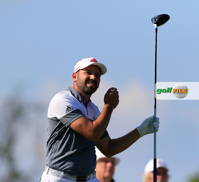 Sergio Garcia (ESP) tees off the 18th tee during Friday's Round 2 of the 2016 U.S. Open Championship held at Oakmont Country Club, Oakmont, Pittsburgh, Pennsylvania, United States of America. 17th June 2016.<br /> Picture: Eoin Clarke | Golffile<br /> <br /> <br /> All photos usage must carry mandatory copyright credit (&copy; Golffile | Eoin Clarke)