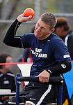 May 17, 2011 Colorado Springs, CO.  A Navy/Coast Guard athlete competes in the sitting shot put during the 2011 Warrior Games at the U.S. Olympic Training Center, Colorado Springs, CO...