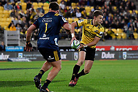 Hurricanes' Beauden Barrett in action during the Super Rugby - Hurricanes v Highlanders at Westpac Stadium, Wellington, New Zealand on Friday 8 March 2019. <br /> Photo by Masanori Udagawa. <br /> www.photowellington.photoshelter.com