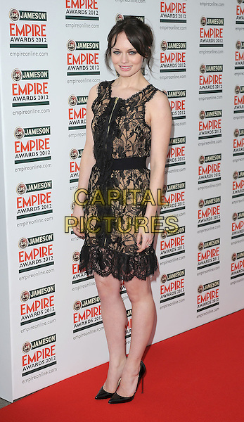 Laura Haddock .Jameson Empire Film Awards at the Grosvenor House Hotel, Park Lane, London, England..March 25th 2012.full length black beige lace dress  .CAP/BF.©Bob Fidgeon/Capital Pictures.