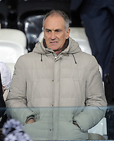 New Swansea head coach Francesco Guidolin during the Barclays Premier League match between Swansea City and Watford at the Liberty Stadium, Swansea on January 18 2016