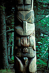 AK: Alaska Sitka National Historic Park, totem pole    .Photo Copyright: Lee Foster, lee@fostertravel.com, www.fostertravel.com, (510) 549-2202.Image: aksitk208AK: Alaska Sitka National Historic Park, totem pole    .Photo Copyright: Lee Foster, lee@fostertravel.com, www.fostertravel.com, (510) 549-2202.Image: aksitk208