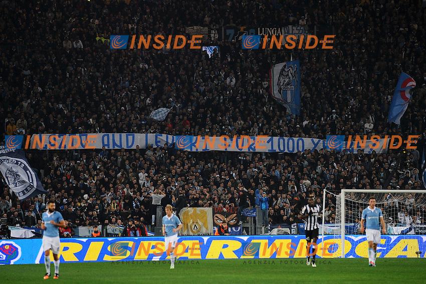 Striscione gemellaggio con Levski <br /> Roma 22-11-2014 Stadio Olimpico, Football Calcio Serie A . Lazio - Juventus. Foto Andrea Staccioli / Insidefoto