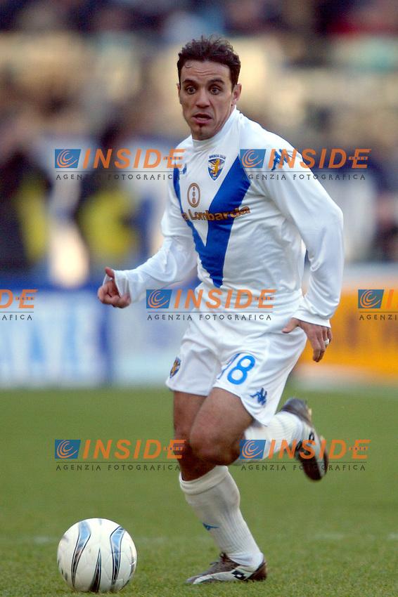 Roma 11/1/2004 <br /> Lazio Brescia 0-1 <br /> Antonio Filippini (Brescia)<br /> Photo Andrea Staccioli Insidefoto