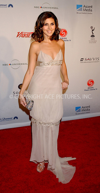 WWW.ACEPIXS.COM . . . . . ....NEW YORK, NOVEMBER 21, 2005......Jamie-Lynn Sigler arriving at the 33rd International Emmy Awards held at the Hilton Hotel.....Please byline: KRISTIN CALLAHAN - ACE PICTURES.. . . . . . ..Ace Pictures, Inc:  ..Philip Vaughan (212) 243-8787 or (646) 679 0430..e-mail: info@acepixs.com..web: http://www.acepixs.com
