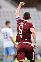 Andrea Belotti of Torino FC  celebrates after scoring the goal of 1-0 during the Serie A football match between Torino FC and SS Lazio at stadio Olimpico in Turin ( Italy ), June 30th, 2020. Play resumes behind closed doors following the outbreak of the coronavirus disease. <br /> Photo Image Sport / Insidefoto