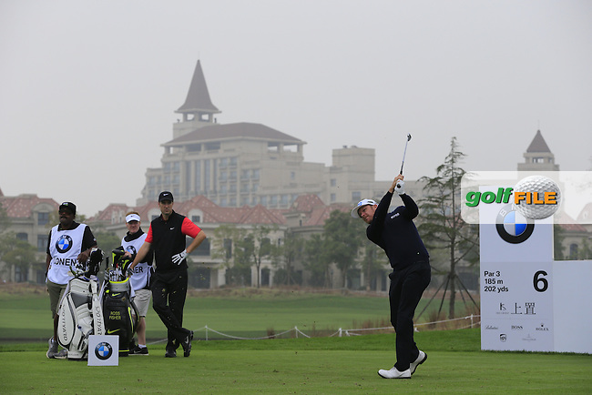 Mikko Ilonen (FIN) tees off the 6th tee during Saturay's Round 3 of the 2014 BMW Masters held at Lake Malaren, Shanghai, China. 1st November 2014.<br /> Picture: Eoin Clarke www.golffile.ie