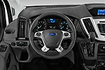 Car pictures of steering wheel view of a 2019 Ford Transit Wagon 150 XLT Wagon Med Roof Sliding Pass. 130 5 Door Passenger Van