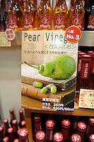 Pear vinegar on sale, Tokyo, Japan, November 16 2009.