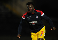 Bolton Wanderers' Josh Emmanuel during the pre-match warm-up <br /> <br /> Photographer Kevin Barnes/CameraSport<br /> <br /> EFL Leasing.com Trophy - Northern Section - Group F - Rochdale v Bolton Wanderers - Tuesday 1st October 2019  - University of Bolton Stadium - Bolton<br />  <br /> World Copyright © 2018 CameraSport. All rights reserved. 43 Linden Ave. Countesthorpe. Leicester. England. LE8 5PG - Tel: +44 (0) 116 277 4147 - admin@camerasport.com - www.camerasport.com