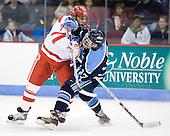 Brian Strait (BU - 7), Christopher Hahn (Maine - 37) - The Boston University Terriers defeated the University of Maine Black Bears 1-0 (OT) on Saturday, February 16, 2008 at Agganis Arena in Boston, Massachusetts.