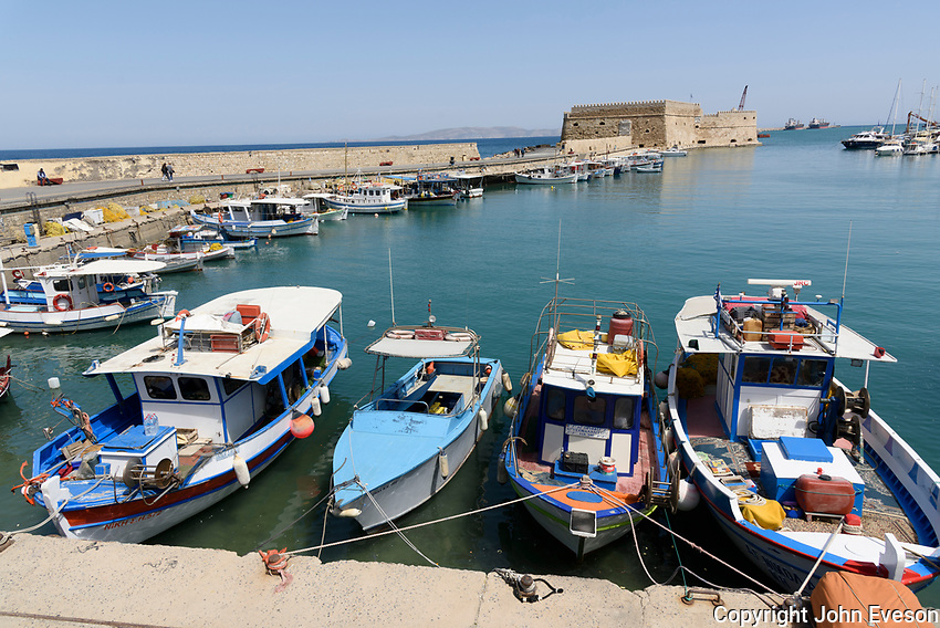 The Venetian fortress of Rocca al Mare, Heraklion, the largest city and the administrative capital of the island of Crete. It is the fourth largest city in Greece