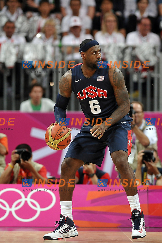 6 JAMES Lebron (USA).Basket USA vs ARGENTINA.London 06/08/2012.Olympic Games London 2012.Olimpiadi Londra 2012.Foto Giovanni Minozzi / Insidefoto